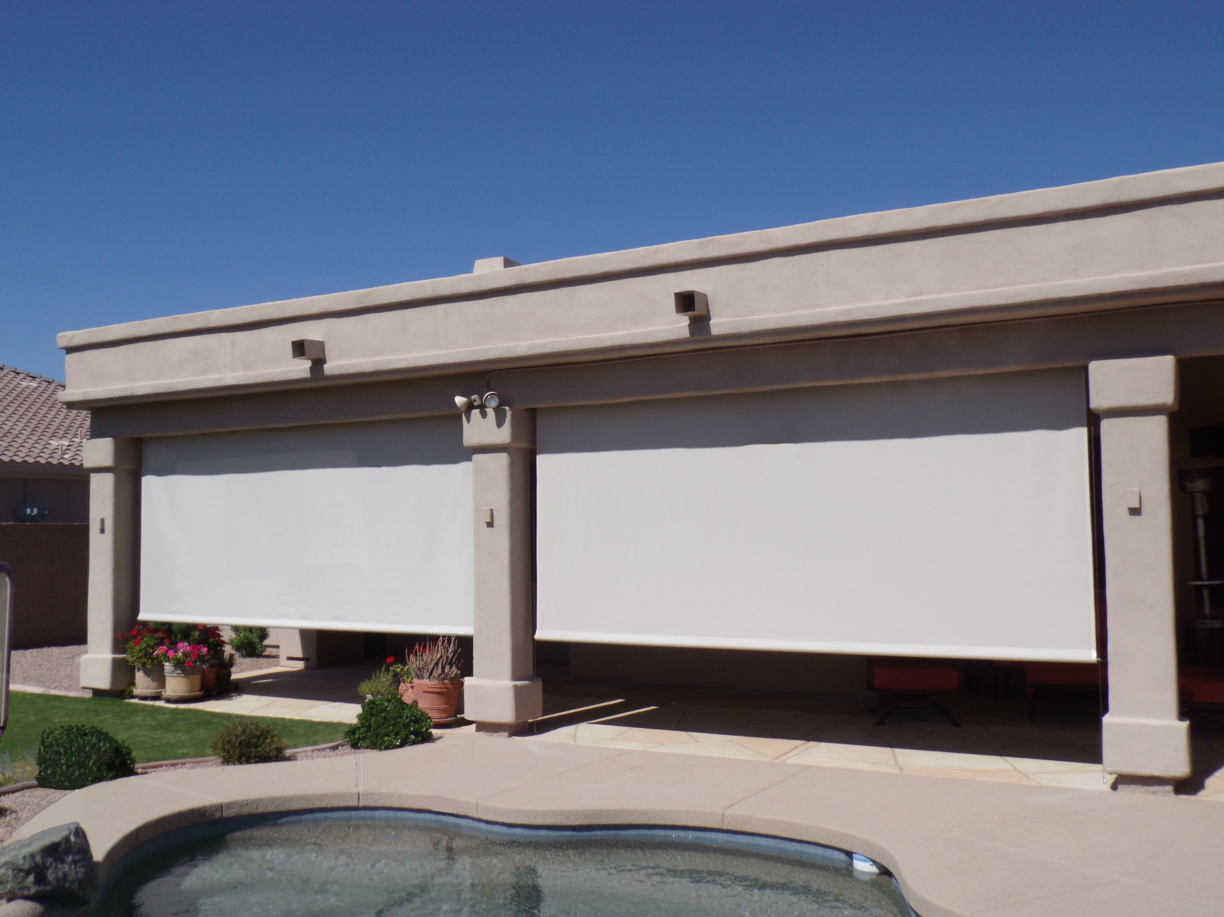 Patio Roll Shades Phoenix Tent And Awning Company